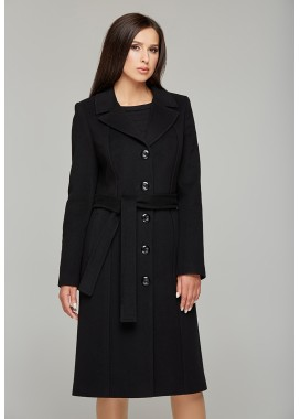 Пальто демисезонное черное 515