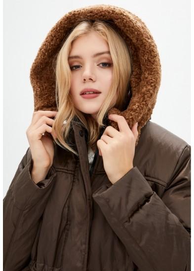 Куртка утепленная коричневая DANNA 1501