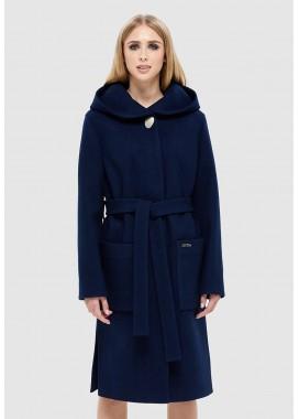Пальто демисезонное темно синее DANNA 1115