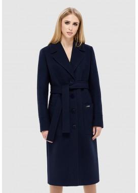 Пальто демисезонное темно синее DANNA 1121