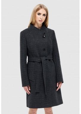 Пальто демисезонное черное DANNA 1141