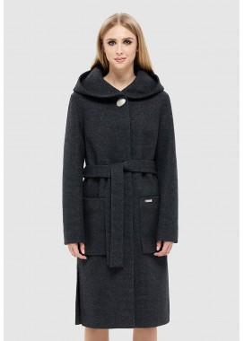 Пальто демисезонное черное DANNA 1143