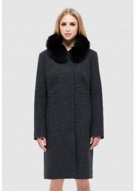 Пальто зимнее черное DANNA 1329