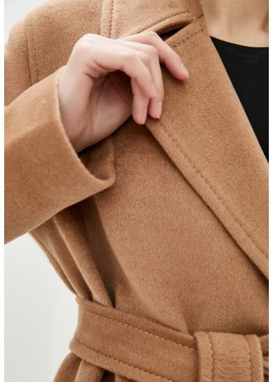 Пальто демисезонное коричневое DANNA 1717BRN