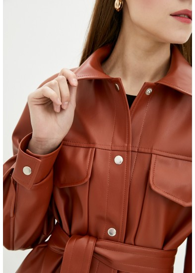 Куртка демисезонная рыжая DANNA 3021