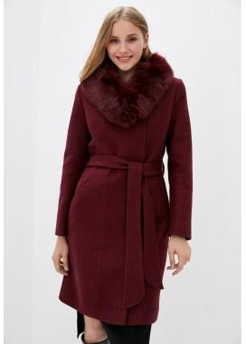 Пальто зимнее бордовое DANNA 1355