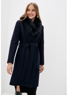 Пальто зимнее синее DANNA 1355