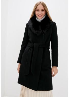 Пальто зимнее черное DANNA 1357
