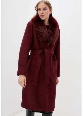 Пальто зимнее бордовое DANNA 1359