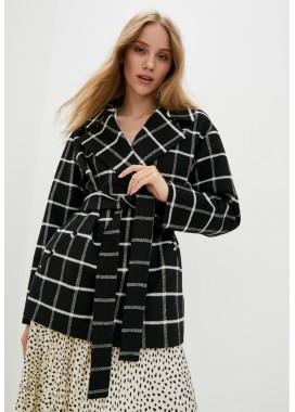 Пальто демисезонное черное DANNA 1771