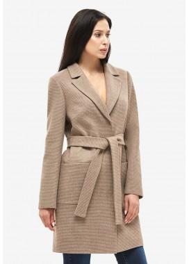 Пальто демисезонное коричневое DANNA 1123