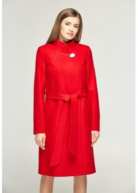 Пальто демисезонное красное DANNA 1109