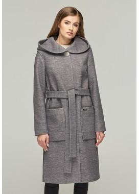 Пальто демисезонное серое  DANNA  1115