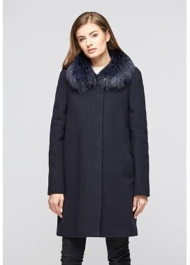Пальто зимнее синее 315