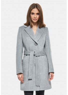 Пальто демисезонное серое DANNA 1125