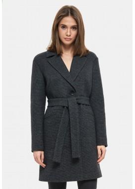 Пальто демисезонное черное DANNA 1127