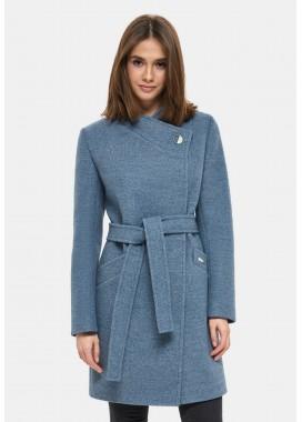 Пальто демисезонное синее DANNA 1129