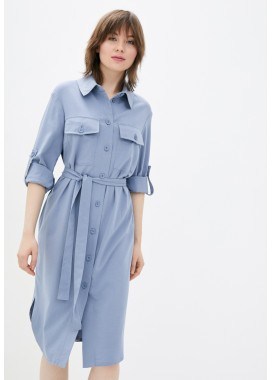 Платье-рубашка голубое DANNA 1079