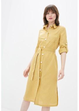 Платье желтое DANNA 1085