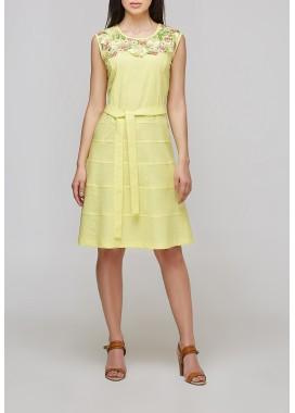 платье желтое 1017 DANNA