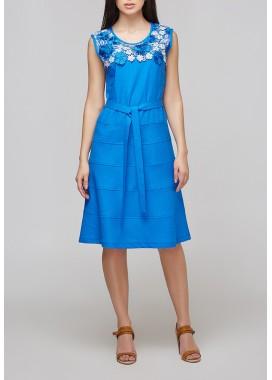платье цвет электрик 1017