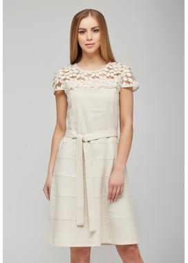 платье летнее бежевое DANNA 1029
