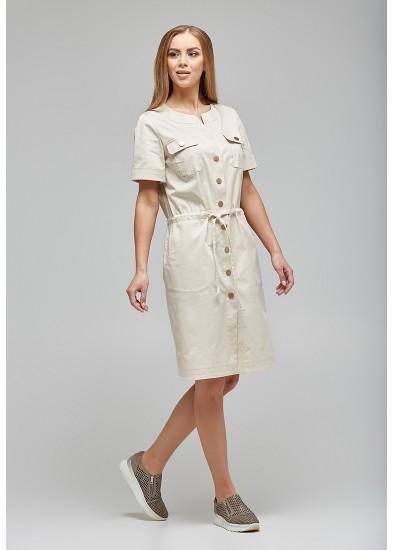 Платье бежевое 1043 DANNA