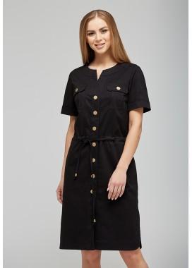 Платье черное 1043