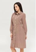 Платье летнее коричневое DANNA 1061
