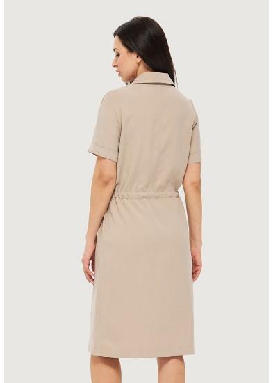 Платье летнее бежевое DANNA 1063
