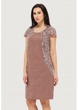 Платье летнее коричневое DANNA 1065