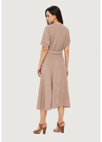 Платье летнее бежевое DANNA 1067