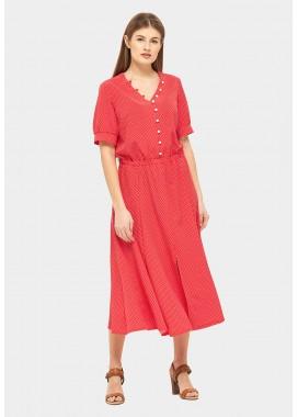 Платье летнее красное DANNA 1067