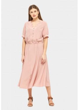 Платье летнее розовое DANNA 1067