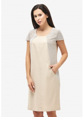 Платье летнее бежевое DANNA 102519