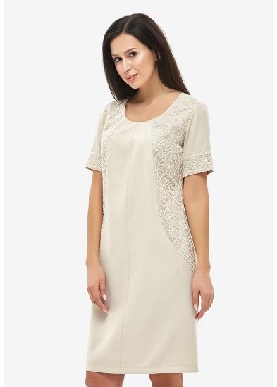 Платье летнее бежевое DANNA 1045
