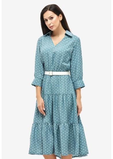 Платье летнее бирюзовое DANNA 1047