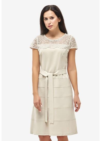 Платье летнее бежевое DANNA 1049
