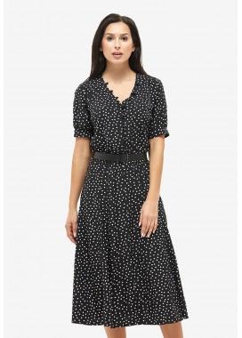 Платье летнее черное DANNA 1051