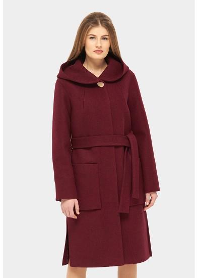 Пальто демисезонное бордовое DANNA 1115