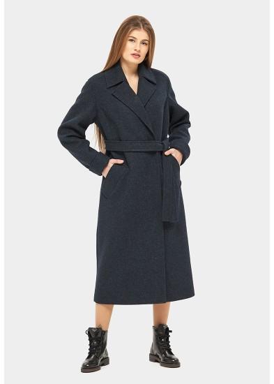 Пальто демисезонное синее DANNA 1135
