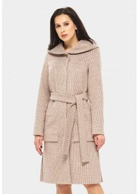 Пальто демисезонное коричневое DANNA 11431