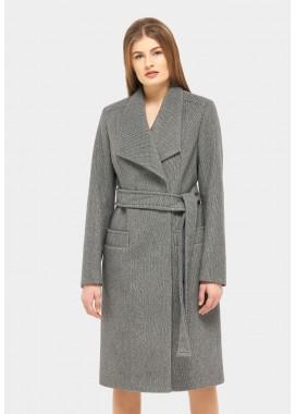 Пальто демисезонное серо-черное DANNA 1151