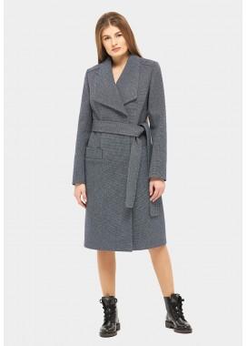 Пальто демисезонное синее DANNA 1151