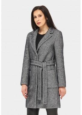 Пальто демисезонное серо-черное DANNA 1153