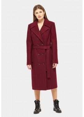 Пальто демисезонное бордовое DANNA 1155