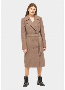 Пальто демисезонное коричневое DANNA 1155