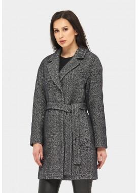 Пальто демисезонное черное DANNA 1157