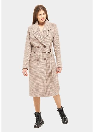 Пальто демисезонное коричневое DANNA 1175