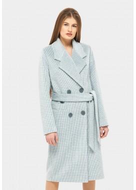 Пальто демисезонное бирюзовое DANNA 1175